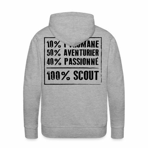 100% Scout - Sweat-shirt à capuche Premium pour hommes