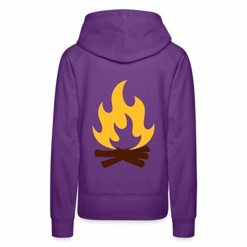 Feu de Camp - Sweat-shirt à capuche Premium pour femmes