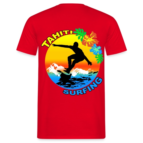 t-shirt tahiti surf design - Men's T-Shirt
