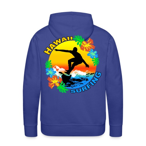 hawaii surfing design sweatshirt capuche - Men's Premium Hoodie