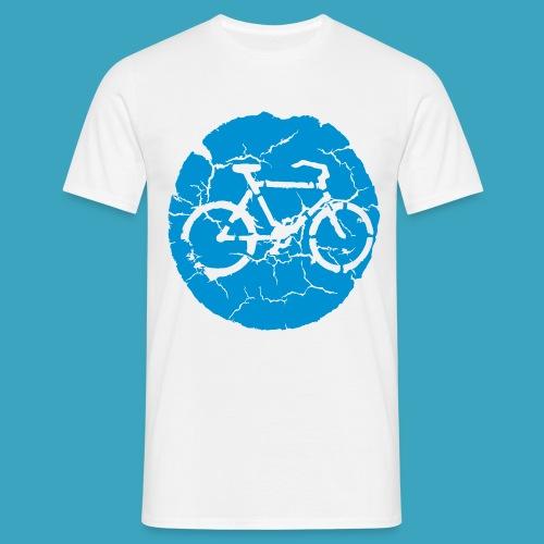 Radweg Piktogramm Vintage - Männer T-Shirt