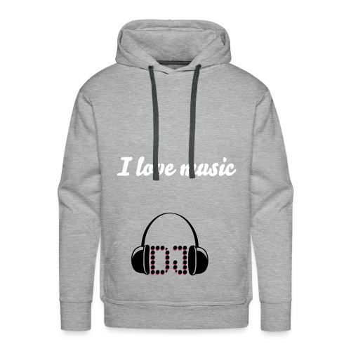 Love music - Sweat-shirt à capuche Premium pour hommes