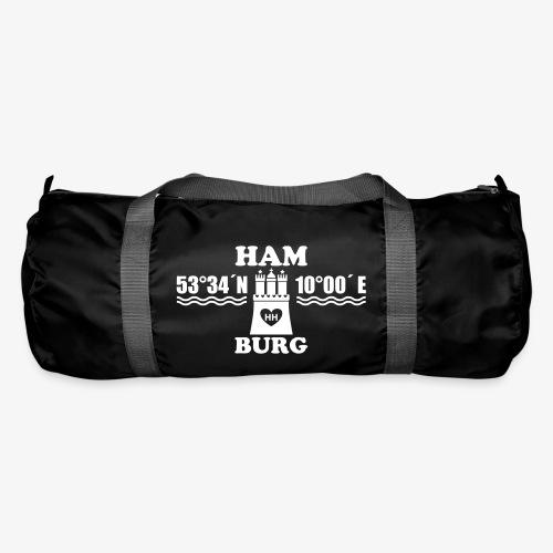 BEIDSEITIG! HAMBURG Koordinaten Stadtwappen 1c Längengrad Breitengrad / MOIN Sporttasche - Sporttasche