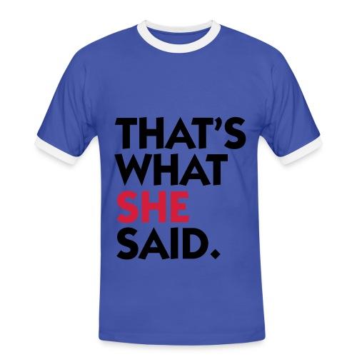 That's W S S T - Shirt - Men's Ringer Shirt