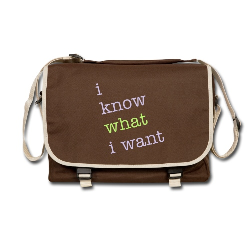 I know what I want bag - Shoulder Bag