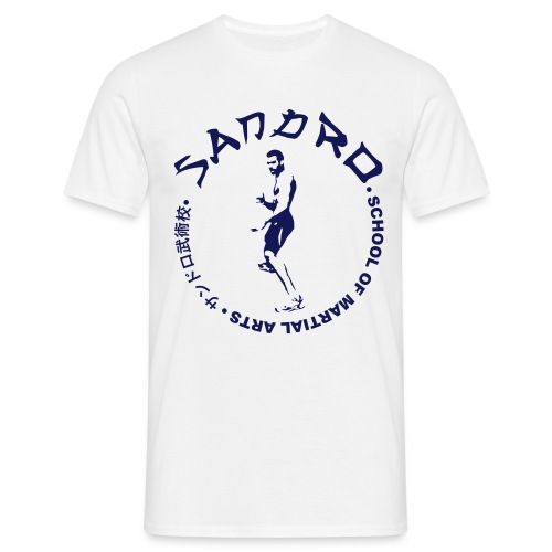 Sandro - School of Martial Arts (White and Navy) - Men's T-Shirt