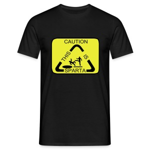 Caution. This is Sparta! - Men's T-Shirt