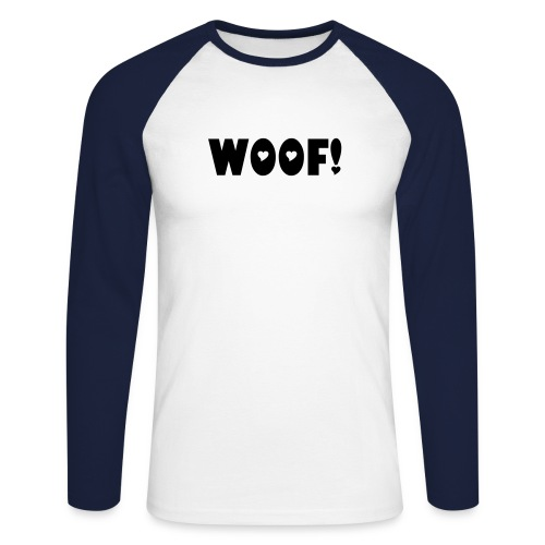 Woof - Men's Long Sleeve Baseball T-Shirt