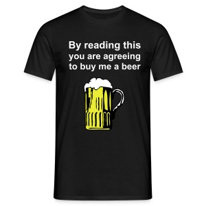 By reading this - Men's T-Shirt