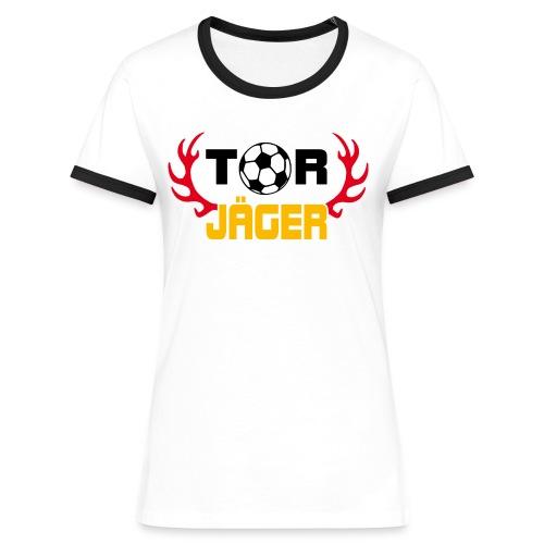 Törjäger  - Frauen Kontrast-T-Shirt