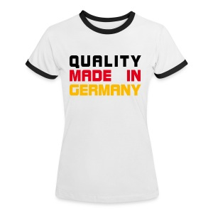 Quality Made in Germany - Frauen Kontrast-T-Shirt