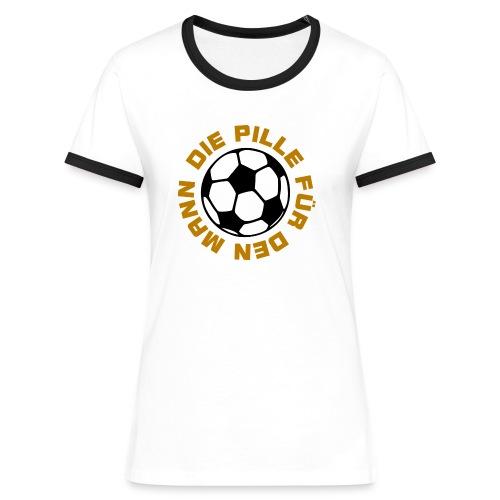 Die Pille für den Mann - Frauen Kontrast-T-Shirt