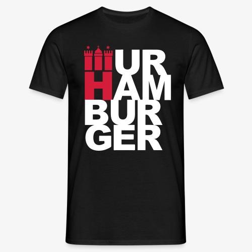 URHAMBURGER - Hamburg Thor zur Welt 2c Männer T-Shirt schwarz + alle Farben - Männer T-Shirt