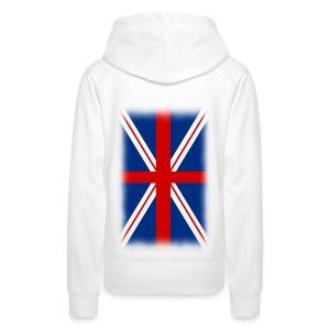 Sweat à capuche femme drapeau anglais - Sweat-shirt à capuche Premium pour femmes