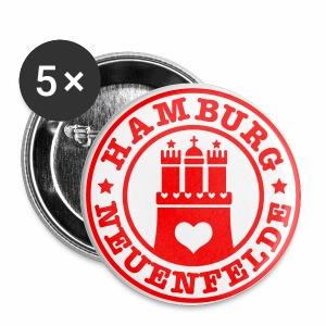 HAMBURG NEUENFELDE - Hamburger Wappen Fan-Design HH Anstecker / Button Souvenir - Buttons groß 56 mm