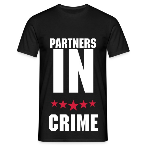 Partners In Crime, T-shirt Sort - Herre-T-shirt