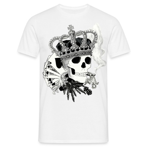 JKC Classic| Skull King | White - Men's T-Shirt