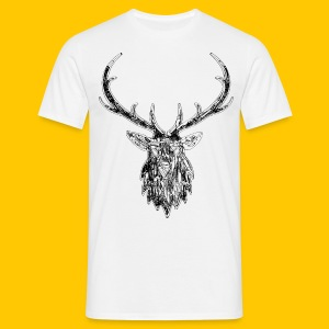 Stag on a Wire - Men's T-Shirt