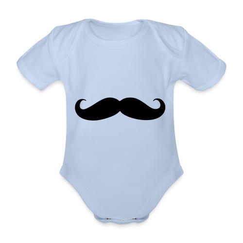 Mustache - Baby bio-rompertje met korte mouwen