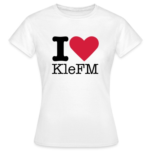 KleFM Shirt I-Love (Frauen) - Frauen T-Shirt