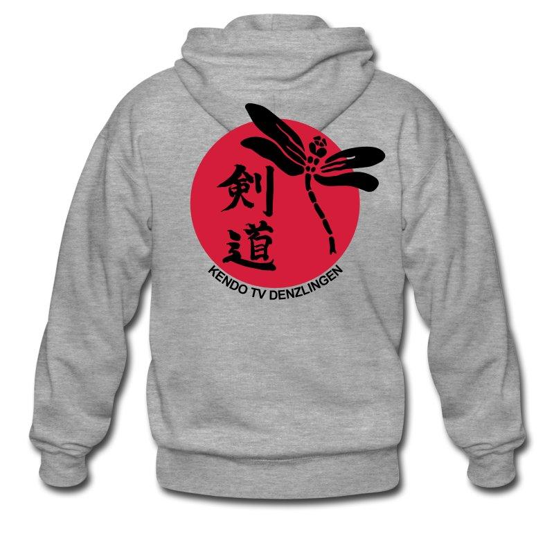 Männer Premium Kapuzenjacke - Kapuzenjacke mit Logo und Verein auf dem Rücken
