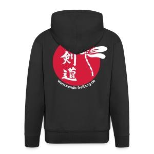 Männer Premium Kapuzenjacke - Kapuzenjacke mit Logo und Web-Adresse auf dem Rücken
