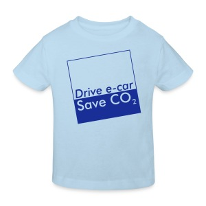 Drive e-car - Save CO2   © by TOSKIO-VTMS - Kinder Bio-T-Shirt