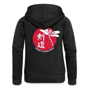 Frauen Premium Kapuzenjacke - Kapuzenjacke mit Logo und Verein auf dem Rücken