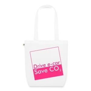 Drive e-car - Save CO2   © by TOSKIO-VTMS - Bio-Stoffbeutel