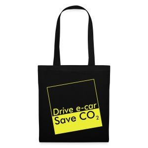 Drive e-car - Save CO2   © by TOSKIO-VTMS - Stoffbeutel