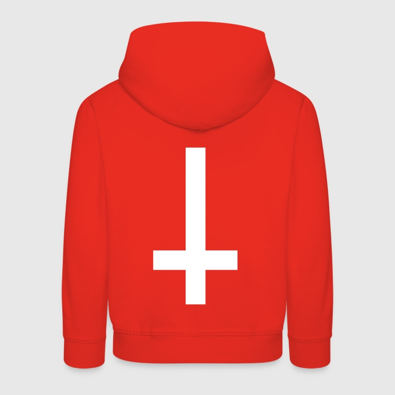 simple cross upside down Hoodies - Kids' Premium Hoodie