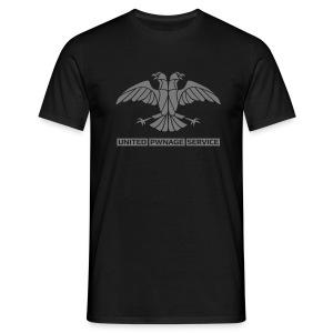 [UPS] Männer T-Shirt klassisch, schwarz, alternativer Aufdruck in Grau, PSN-ID hinten - Männer T-Shirt