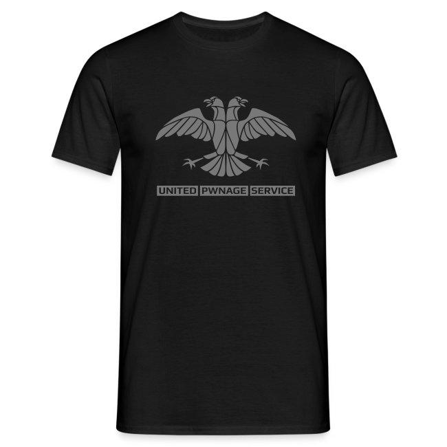 [UPS] Männer T-Shirt klassisch, schwarz, alternativer Aufdruck in Grau, PSN-ID hinten