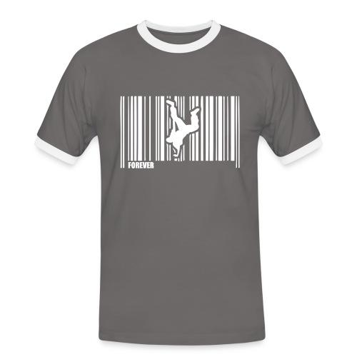 Danse Code Barre Gris Homme - T-shirt contrasté Homme