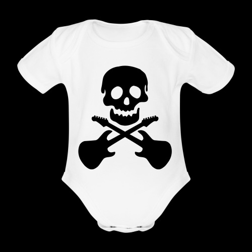 Babybody Skull Musik - Baby Bio-Kurzarm-Body