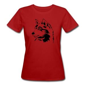 tiershirt t-shirt tier wolf wolves wild rudel pack alphatier alphawolf leitwolf howling - Frauen Bio-T-Shirt