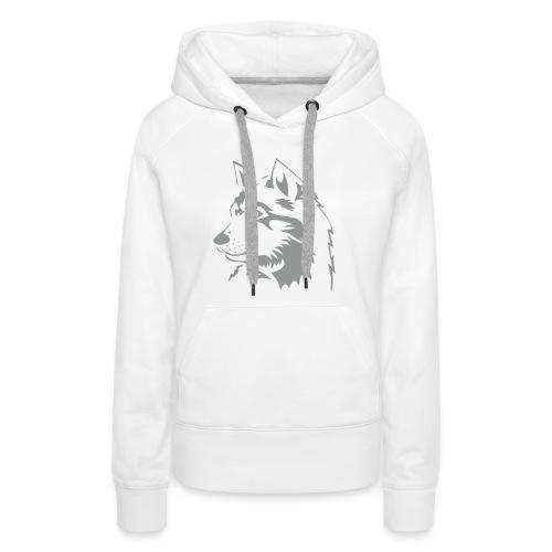 tiershirt t-shirt tier wolf wolves wild rudel pack alphatier alphawolf leitwolf howling - Frauen Premium Hoodie