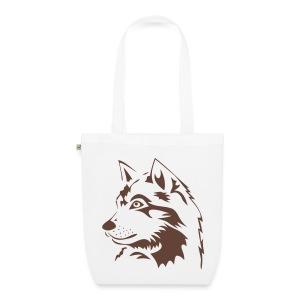 tiershirt t-shirt tier wolf wolves wild rudel pack alphatier alphawolf leitwolf howling - Bio-Stoffbeutel