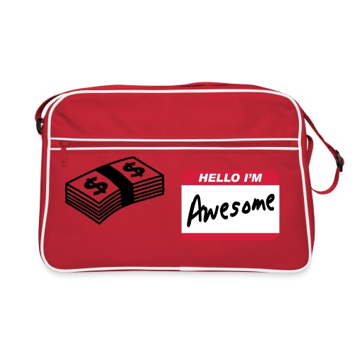 hello i'm awesome - Retro Bag