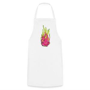Dragon fruit on white apron - Cooking Apron
