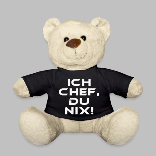 ICH CHEF, DU NIX! (Weiss Glitzer) - Teddy - Teddy