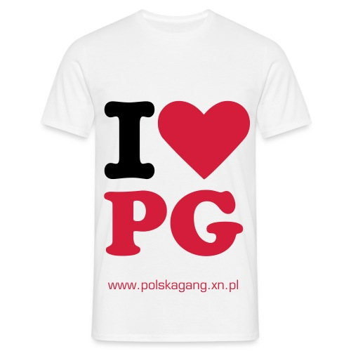 I LOVE POLSKA GANG! - Men's T-Shirt