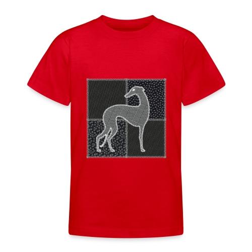 Lévriers stylisés. Patchwork - T-shirt Ado