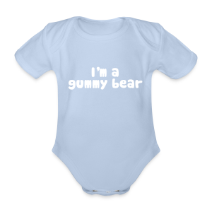 I'm A Gummy Bear Lyric Baby One-Piece - Organic Short-sleeved Baby Bodysuit