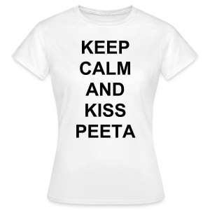 Keep Calm and Kiss Peeta- The Hunger Games - Women's T-Shirt