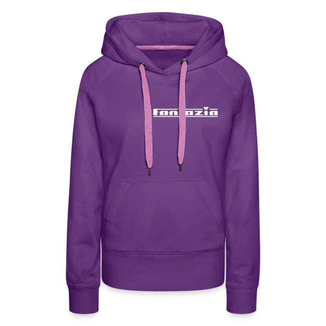 Fantazia ladies hoodie with logos to front and back