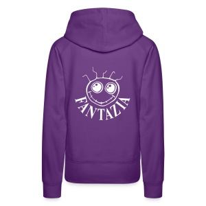 Fantazia ladies hoodie with logos to front and back - Women's Premium Hoodie