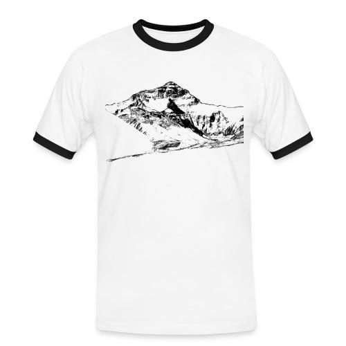 Mount Everest T-shirt Herren (2) - Männer Kontrast-T-Shirt