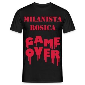 Milanista GAME OVER - JdS Official - Maglietta da uomo