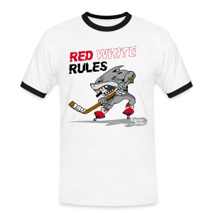 Red White Rules - Männer Kontrast-T-Shirt